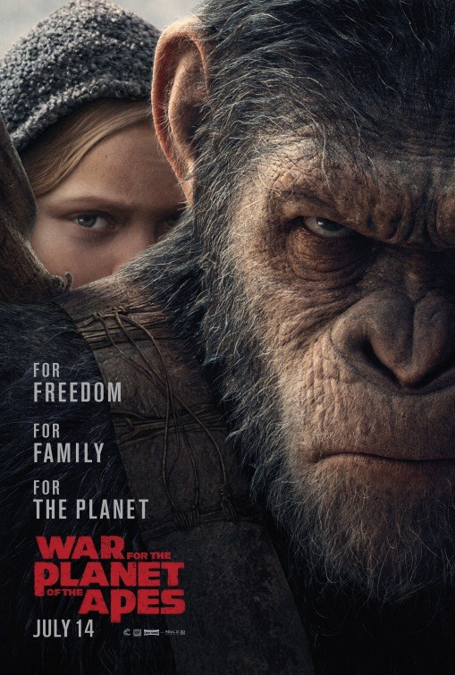 WAR FOR THE PLANET OF THE APES now showing at Shelly Centre