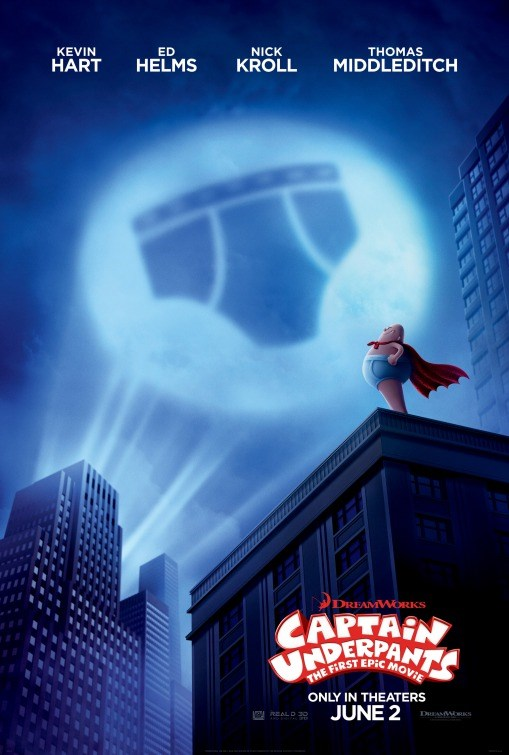 CAPTAIN UNDERPANTS now showing at Shelly Centre
