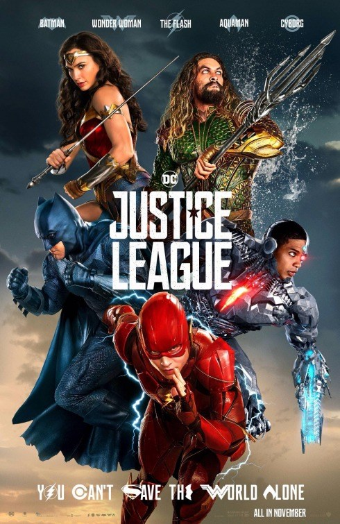 JUSTICE LEAGUE now showing at Shelly Centre