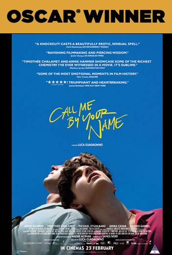 CALL ME BY YOUR NAME now showing at Cavendish Square