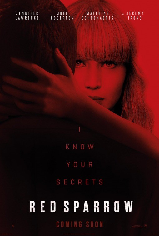 RED SPARROW now showing at Cavendish Square
