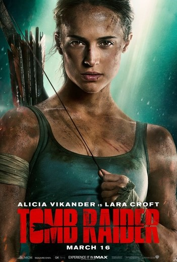 TOMB RAIDER now showing at Shelly Centre