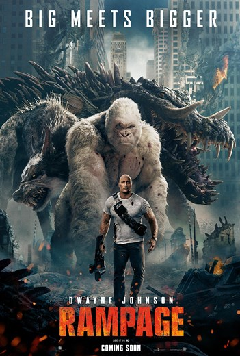 RAMPAGE now showing at Shelly Centre