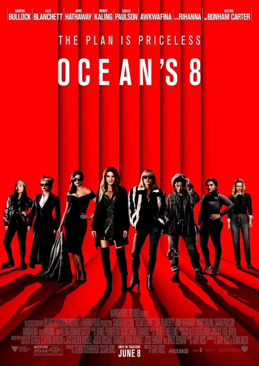 OCEAN'S 8 now showing at Cavendish Square